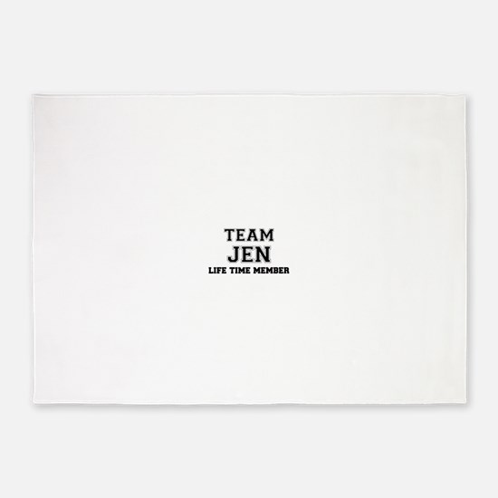 Team JEN, life time member 5'x7'Area Rug