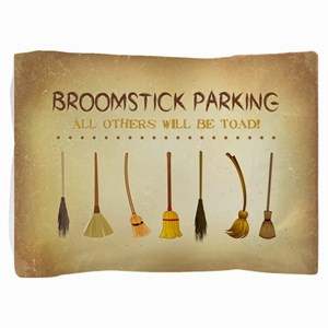 BROOMSTICK PARKING Pillow Sham