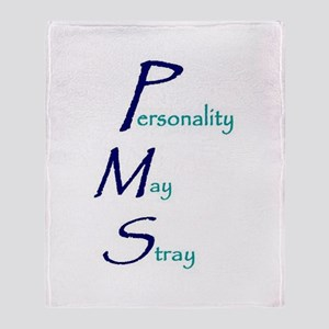 Personality May Stray Throw Blanket
