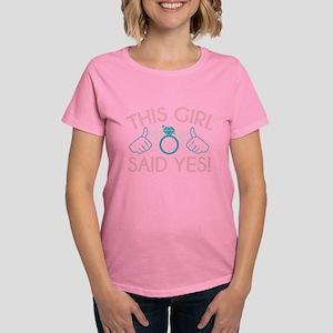This Girl Said Yes Women's Dark T-Shirt