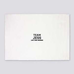Team JESS, life time member 5'x7'Area Rug