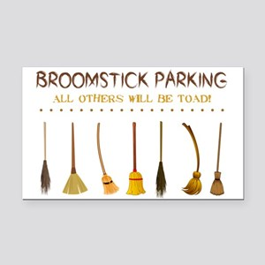BROOMSTICK PARKING Rectangle Car Magnet