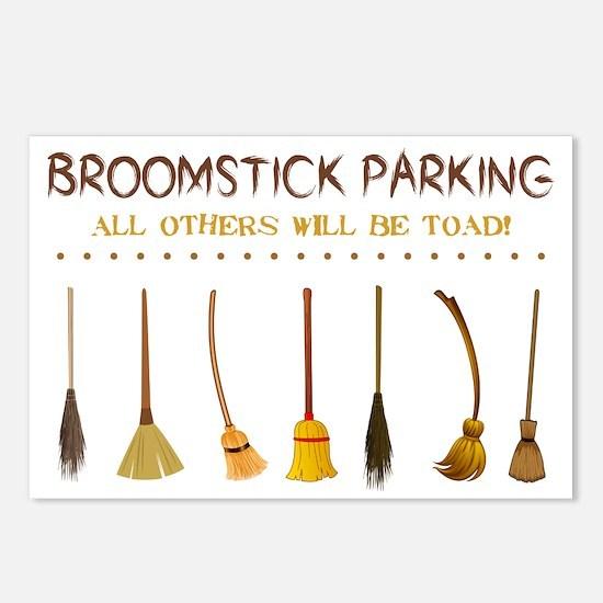BROOMSTICK PARKING Postcards (Package of 8)