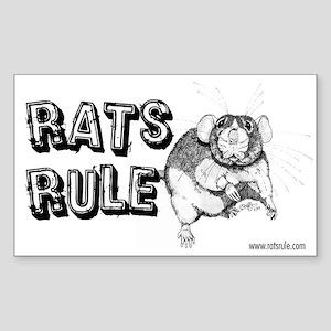 Rats Rule Dumbo Rectangle Sticker