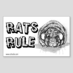 Rats Rule Loki Rectangle Sticker