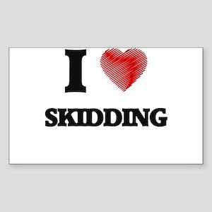 I Love Skidding Sticker