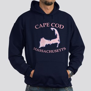 Preppy Pink Cape Cod Massachusetts Hoodie