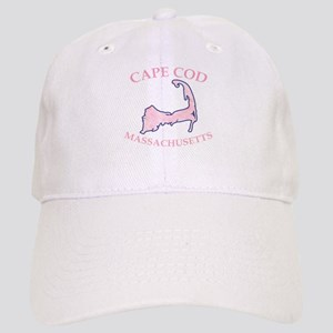 Preppy Pink Cape Cod Massachusetts Baseball Cap