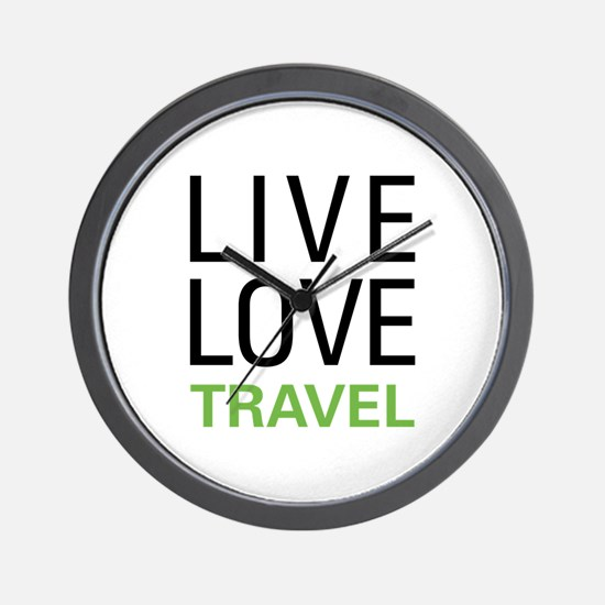 Live Love Travel Wall Clock