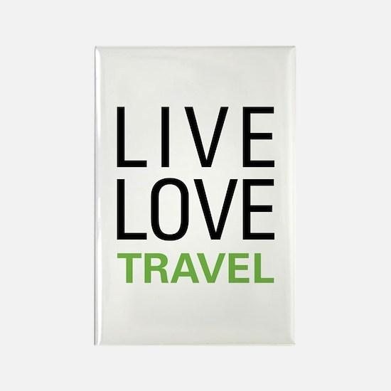 Live Love Travel Rectangle Magnet