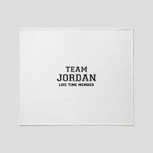 Team JORDAN, life time member Throw Blanket