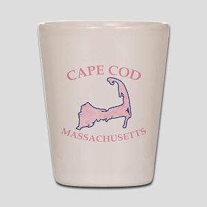 Preppy Pink Cape Cod Massachusetts Shot Glass