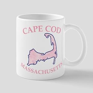 Preppy Pink Cape Cod Massachusetts Mugs