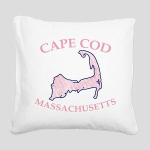 Preppy Pink Cape Cod Massachusetts Square Canvas P