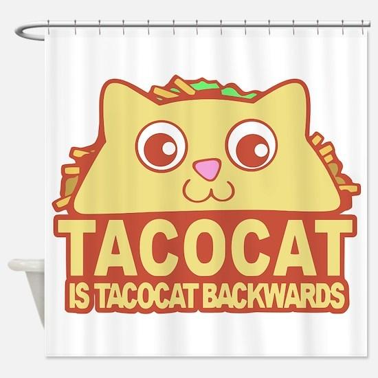 Tacocat Backwards Shower Curtain