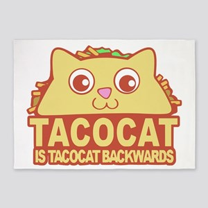 Tacocat Backwards 5'x7'Area Rug