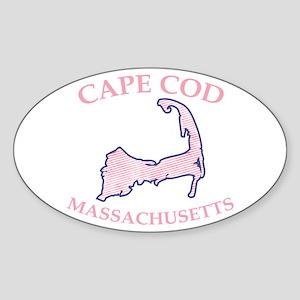 Preppy Pink Cape Cod Massachusetts Sticker