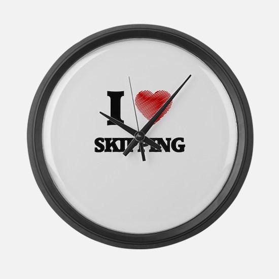 I love Skipping Large Wall Clock