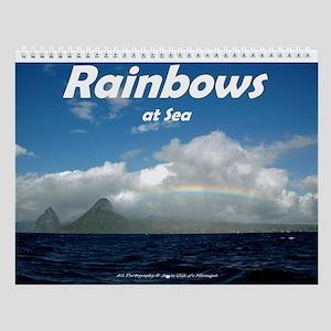 Rainbows At Sea Wall Calendar