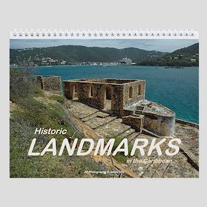 Landmarks Of The Caribbean Wall Calendar
