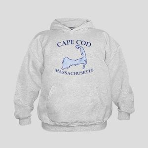 Preppy Vintage Blue Cape Cod Kids Hoodie