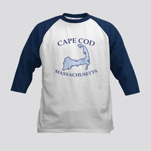 Preppy Vintage Blue Cape Cod Kids Baseball Jersey