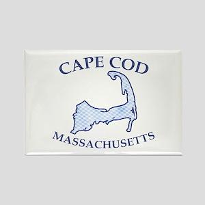 Preppy Vintage Blue Cape Cod Rectangle Magnet