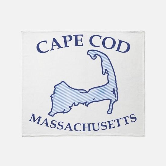 Preppy Vintage Blue Cape Cod Throw Blanket