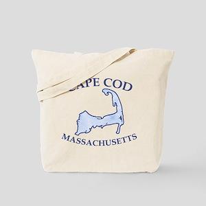 Preppy Vintage Blue Cape Cod Tote Bag
