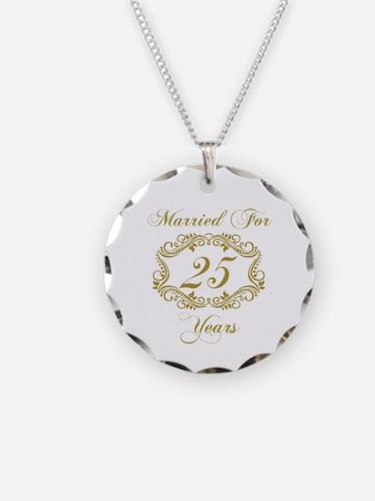25th Wedding Anniversary Necklace