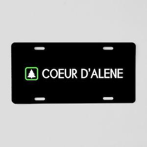 Coeur d'Alene, Idaho Aluminum License Plate