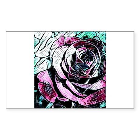 Pretty rose art Sticker