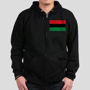 African American Flag - Red Blac Zip Hoodie (dark)