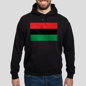 African American Flag - Red Black an Hoodie (dark)