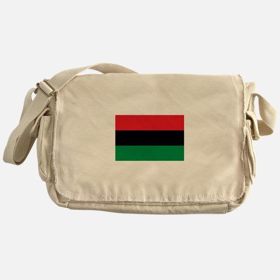 African American Flag - Red Black an Messenger Bag