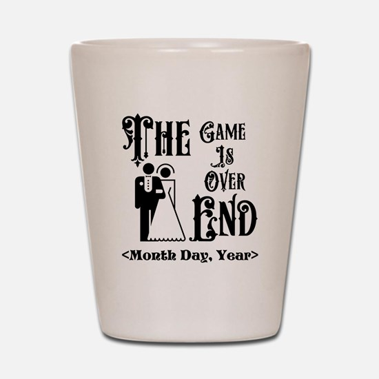 Game Over Getting Married Personalized Shot Glass