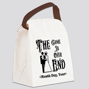 Game Over Getting Married Persona Canvas Lunch Bag