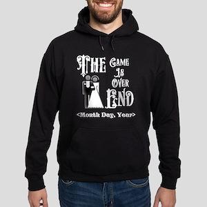 Game Over Getting Married Personaliz Hoodie (dark)