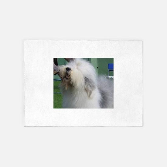 old english sheepdog 5'x7'Area Rug