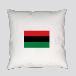 African American Flag - Red Black Everyday Pillow