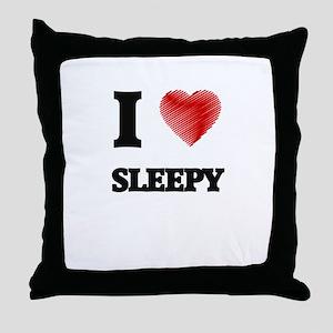 I love Sleepy Throw Pillow