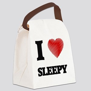 I love Sleepy Canvas Lunch Bag