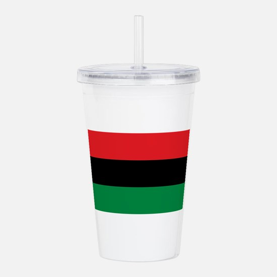 African American Flag Acrylic Double-wall Tumbler