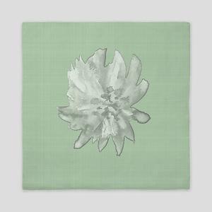 Watercolor Flower on Linen Queen Duvet