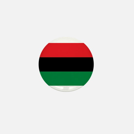 African American Flag - Red Black and Mini Button