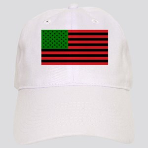 African American Flag - Red Black and Green Cap