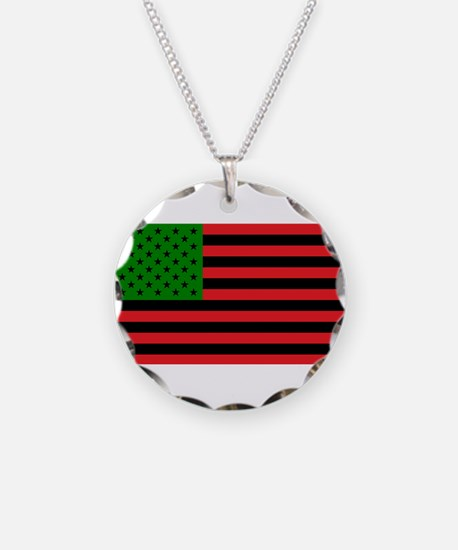 African American Flag - Red Necklace