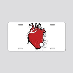 anatomical stethoscope Aluminum License Plate