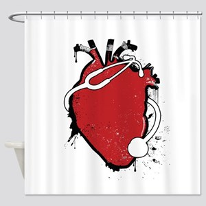 anatomical stethoscope Shower Curtain