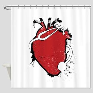 anatomical stethoscope Shower Curtain